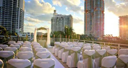 Wedding Ceremony on our Skyline Terrace, overlooking world-famous Ocean Drive and Miami Beach