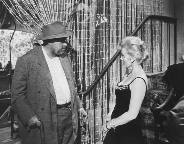 """Orson Welles és Zsazsa """"A gonosz érintése"""" című filmben"""