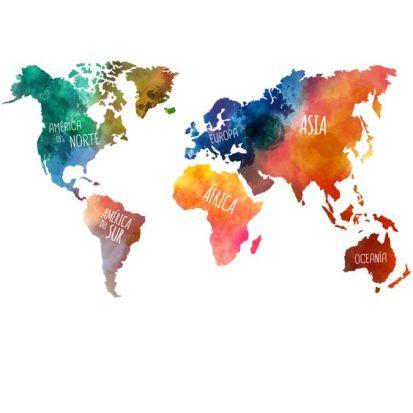 vinilo decorativo mapamundi de colores starstick